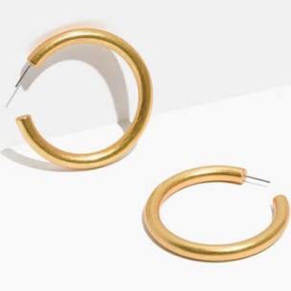 71f81b6ad Madewell Jewelry | Oversized Chunky Gold Hoop Earrings | Poshmark